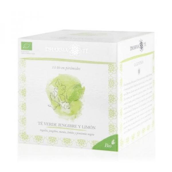 Dharma Té Bio Té verde Jengibre y Limón